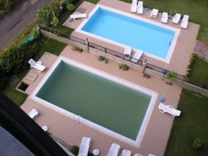 before and after pool cleaner photos